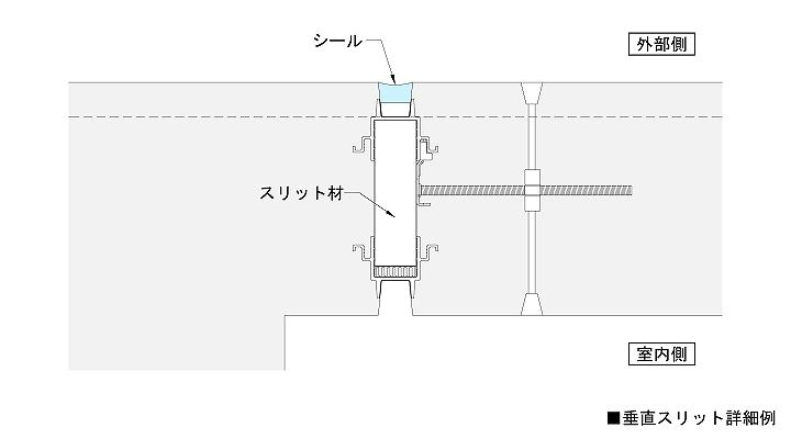 垂直スリット詳細図