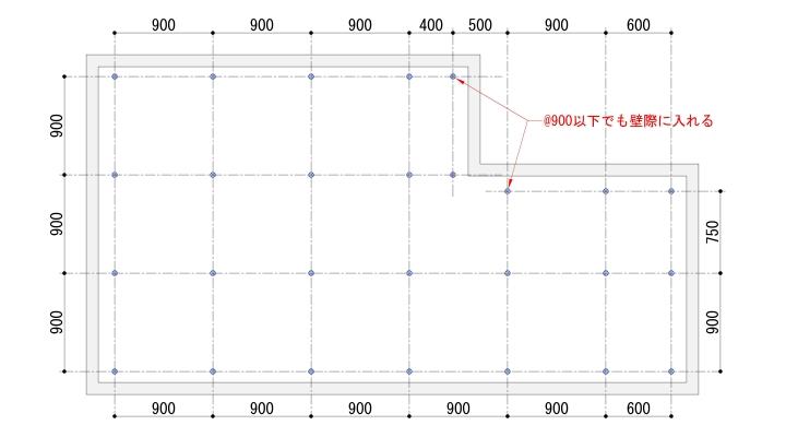 天井インサート配置例
