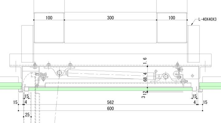 パネル式可動防煙垂壁の納まり