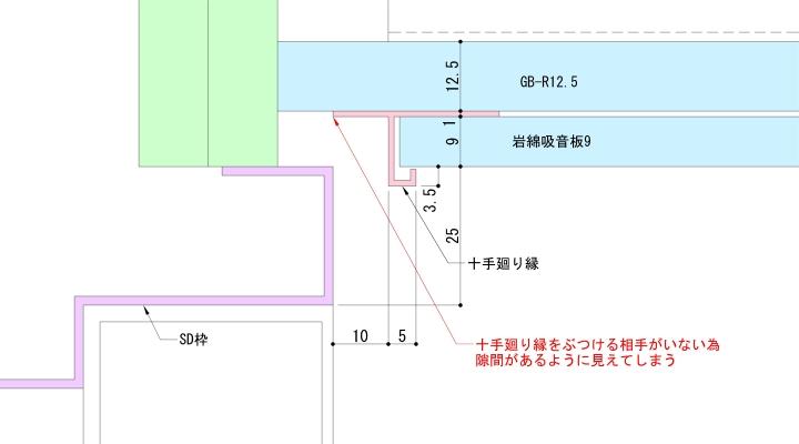 建具上枠を一般形状にすると…
