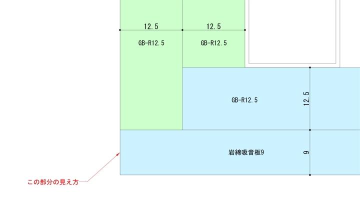 壁と天井の出隅拡大図