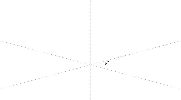 15°の基準ライン