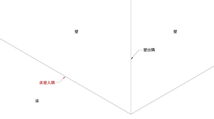 床壁入隅線の表現