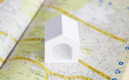 建物と地図