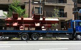 鉄骨柱の運搬