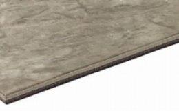 複層ビニル床タイルの断面